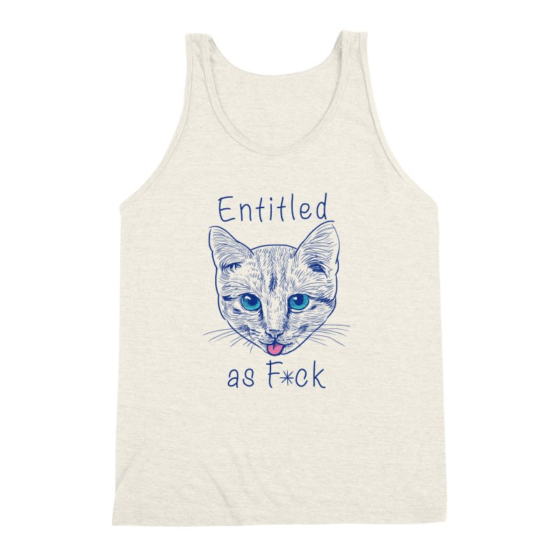 Entitled Cat Men's Triblend Tank by vincenttrinidad's Artist Shop