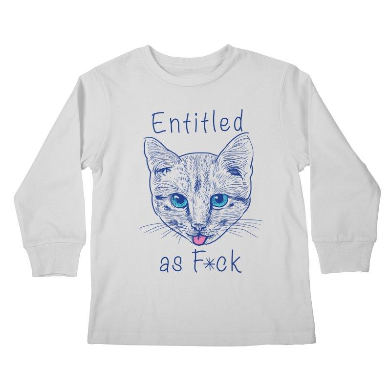 Entitled Cat Kids Longsleeve T-Shirt by vincenttrinidad's Artist Shop