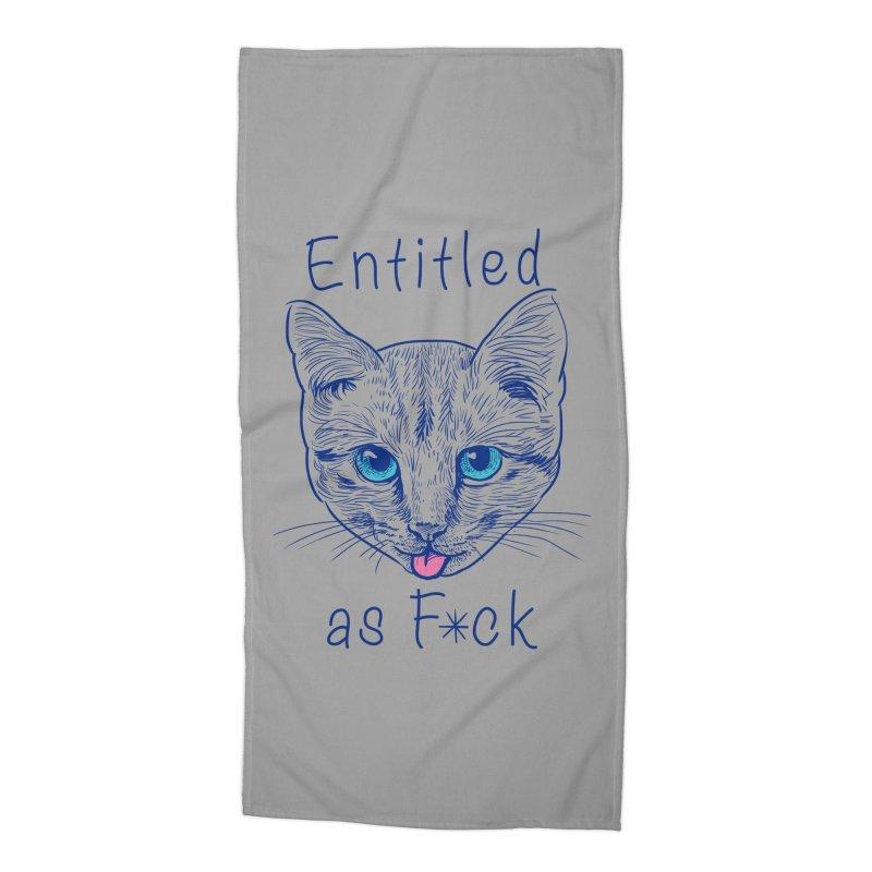 Entitled Cat Accessories Beach Towel by vincenttrinidad's Artist Shop