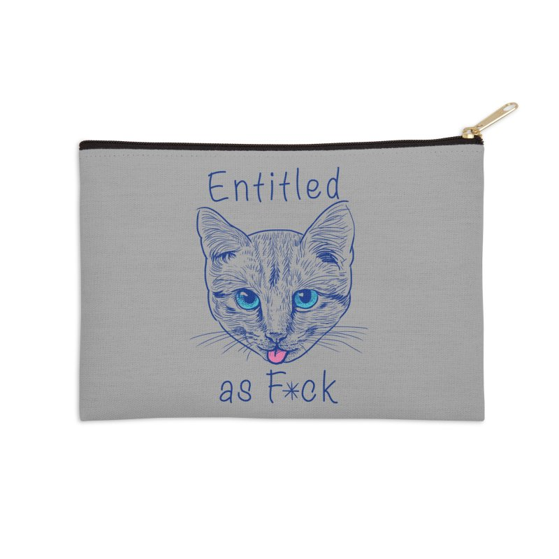 Entitled Cat Accessories Zip Pouch by vincenttrinidad's Artist Shop