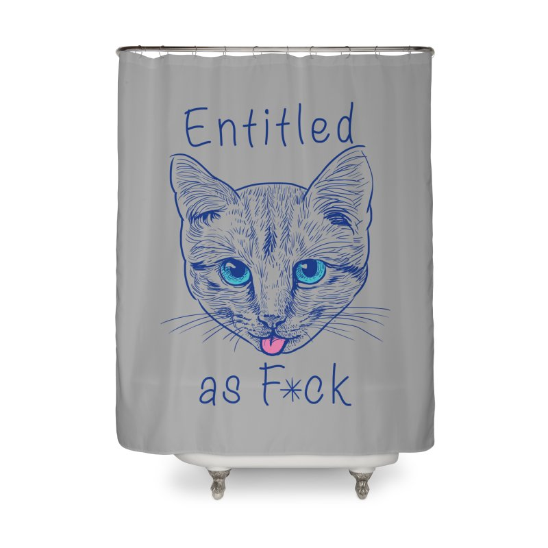 Entitled Cat Home Shower Curtain by vincenttrinidad's Artist Shop