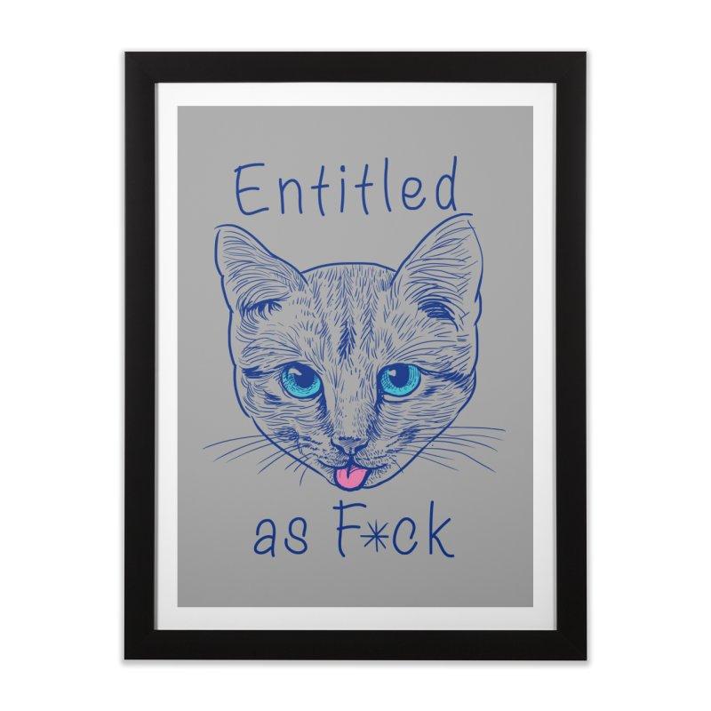 Entitled Cat Home Framed Fine Art Print by vincenttrinidad's Artist Shop