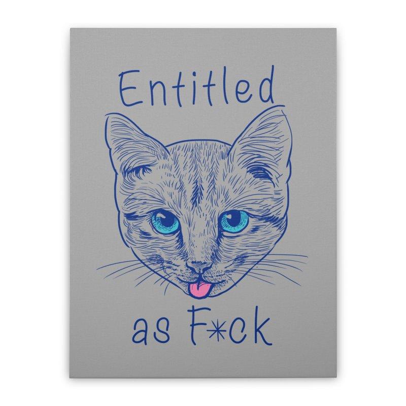 Entitled Cat Home Stretched Canvas by vincenttrinidad's Artist Shop