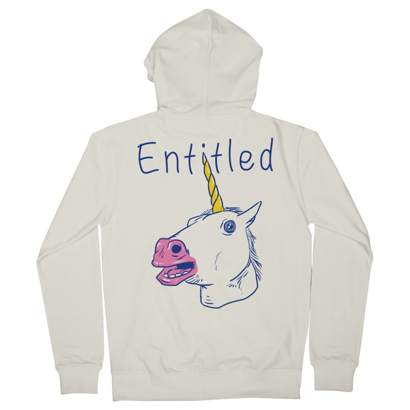 Entitled Unicorn Men's Zip-Up Hoody by vincenttrinidad's Artist Shop