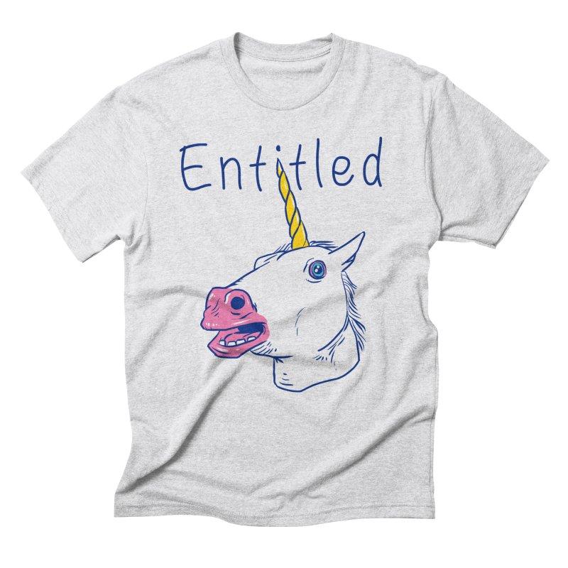 Entitled Unicorn Men's Triblend T-Shirt by vincenttrinidad's Artist Shop