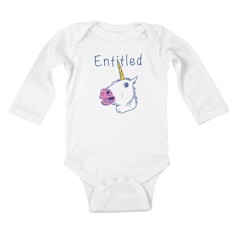 Entitled Unicorn Kids Baby Longsleeve Bodysuit by vincenttrinidad's Artist Shop