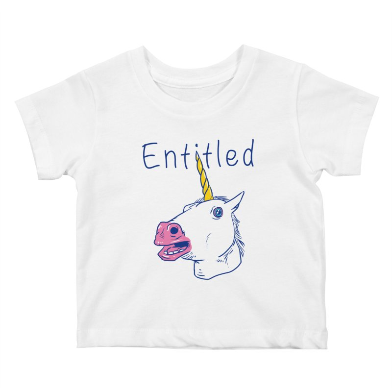 Entitled Unicorn Kids Baby T-Shirt by vincenttrinidad's Artist Shop