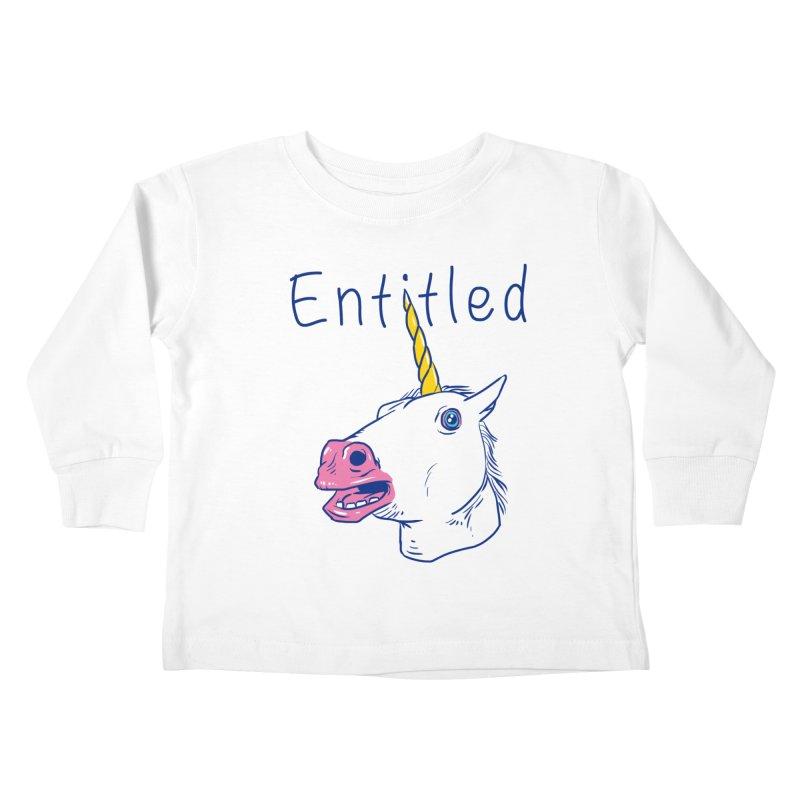 Entitled Unicorn Kids Toddler Longsleeve T-Shirt by vincenttrinidad's Artist Shop