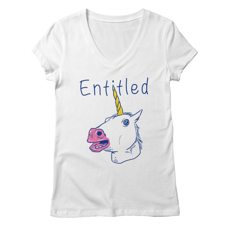 Entitled Unicorn Women's V-Neck by vincenttrinidad's Artist Shop