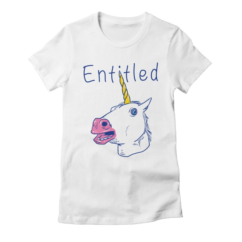 Entitled Unicorn Women's Fitted T-Shirt by vincenttrinidad's Artist Shop