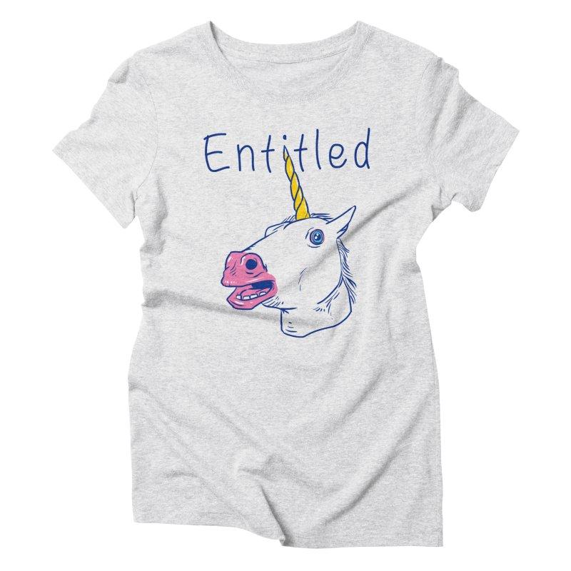 Entitled Unicorn Women's Triblend T-Shirt by vincenttrinidad's Artist Shop