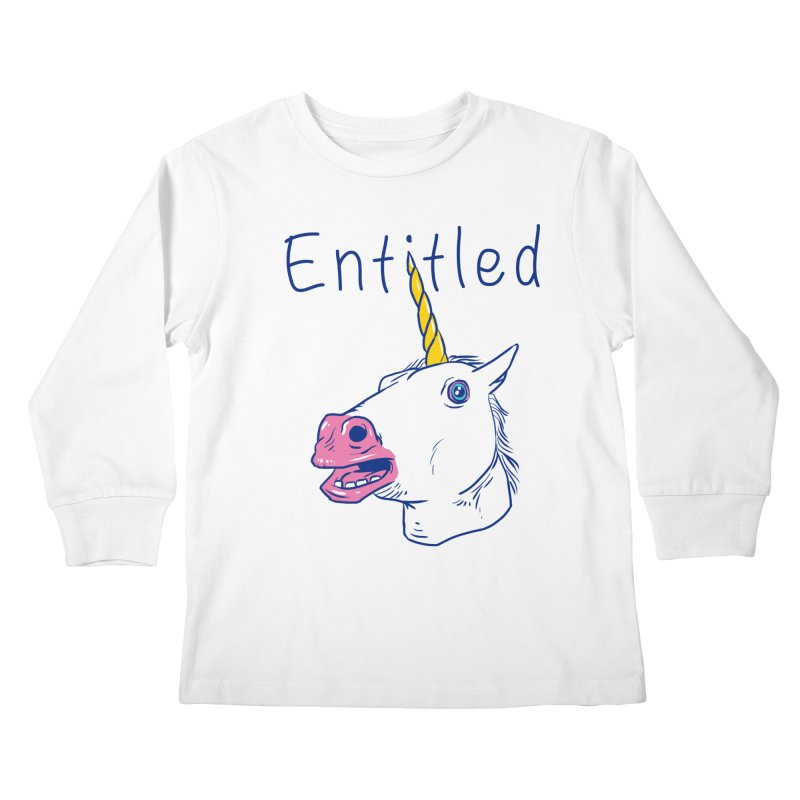 Entitled Unicorn Kids Longsleeve T-Shirt by vincenttrinidad's Artist Shop
