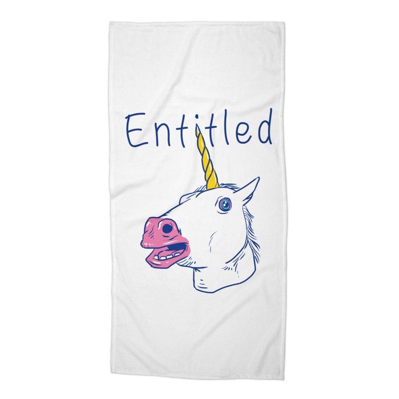 Entitled Unicorn Accessories Beach Towel by vincenttrinidad's Artist Shop