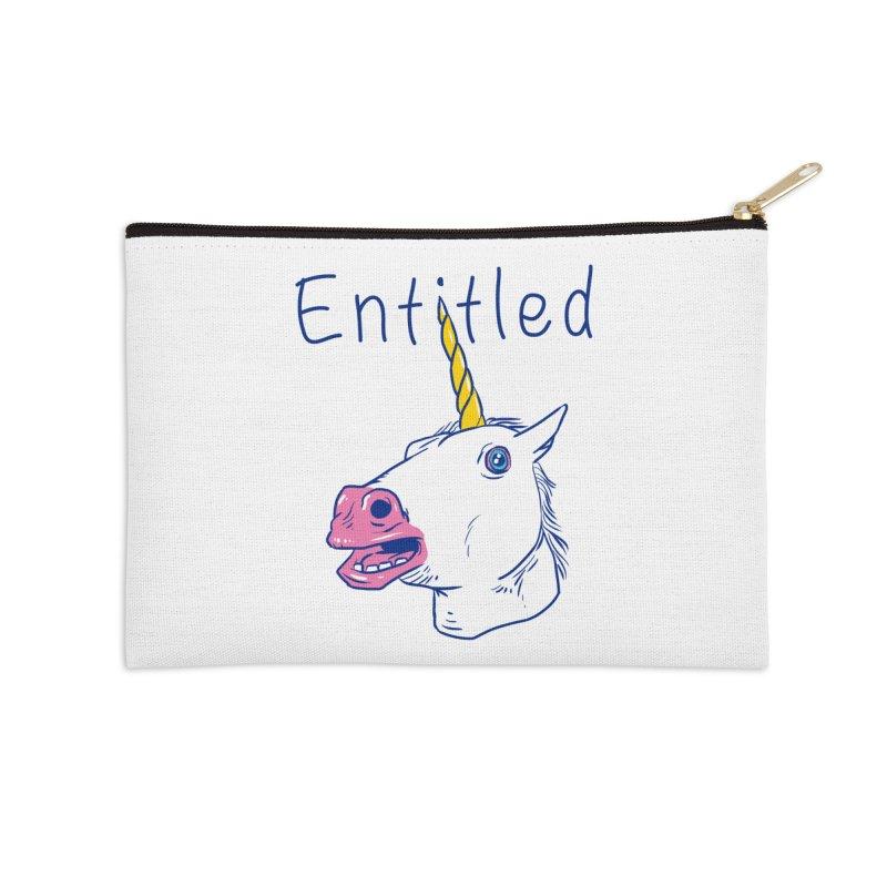 Entitled Unicorn Accessories Zip Pouch by vincenttrinidad's Artist Shop