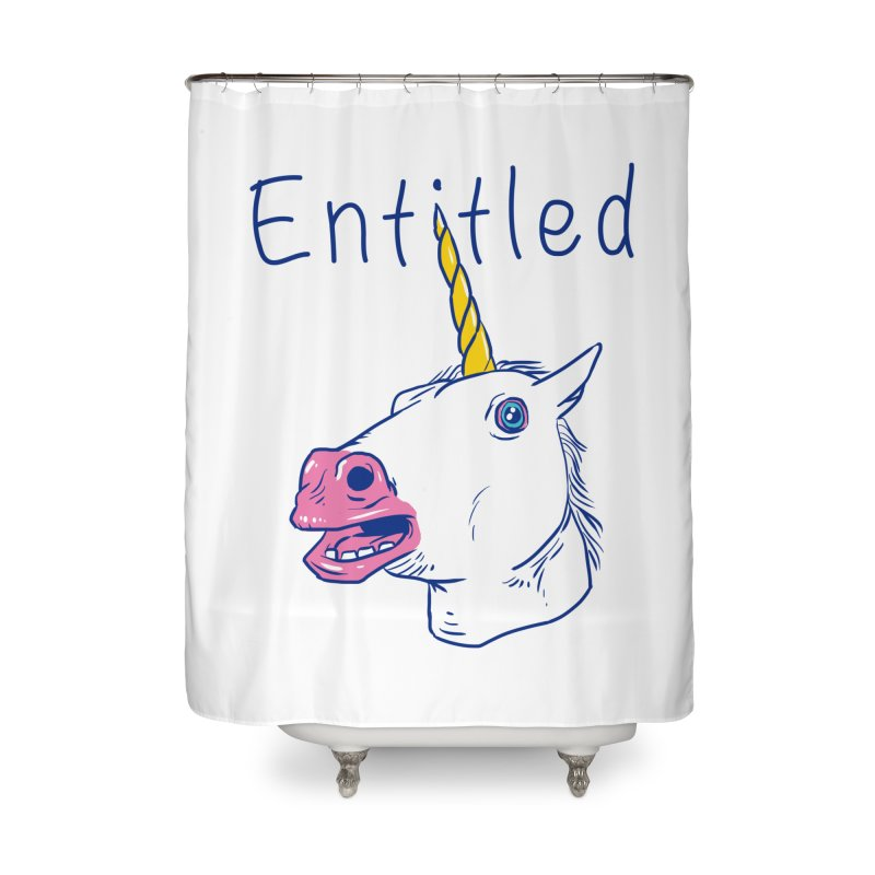 Entitled Unicorn Home Shower Curtain by vincenttrinidad's Artist Shop