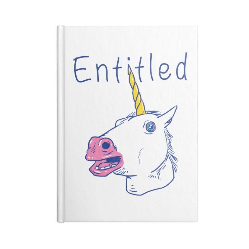 Entitled Unicorn Accessories Notebook by vincenttrinidad's Artist Shop