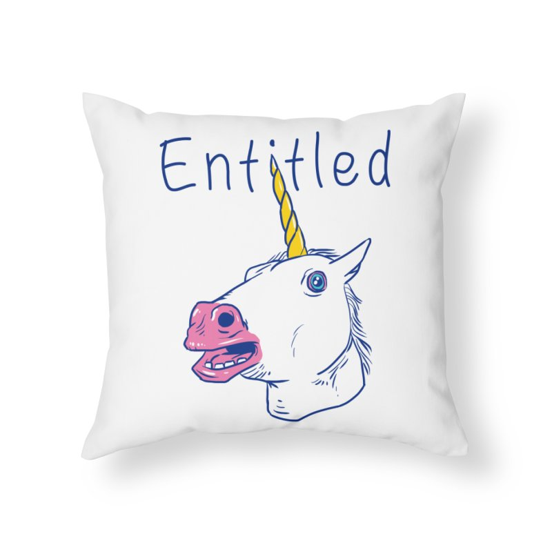 Entitled Unicorn Home Throw Pillow by vincenttrinidad's Artist Shop