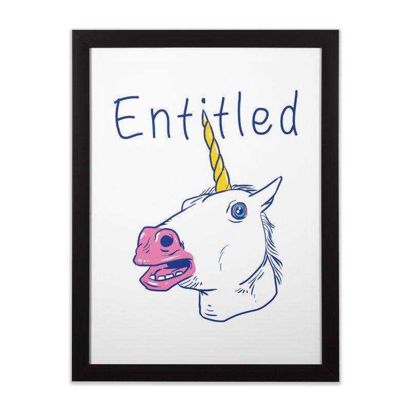 Entitled Unicorn Home Framed Fine Art Print by vincenttrinidad's Artist Shop