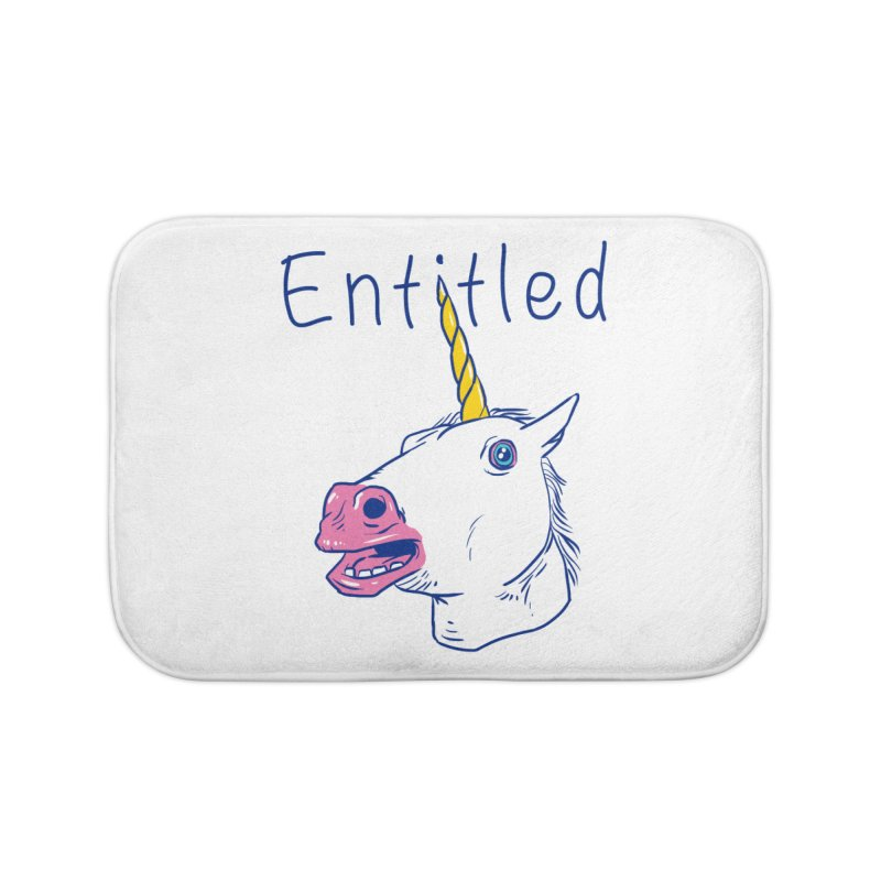 Entitled Unicorn Home Bath Mat by vincenttrinidad's Artist Shop