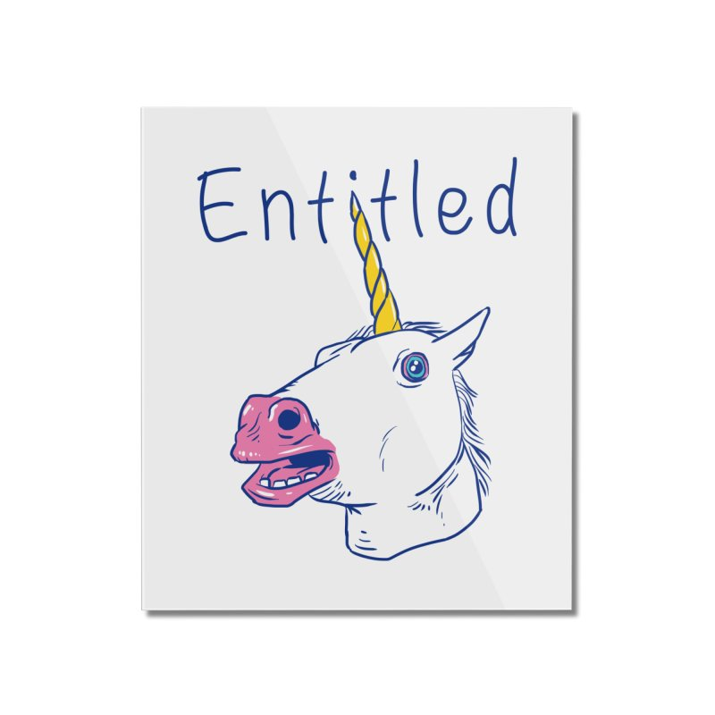 Entitled Unicorn Home Mounted Acrylic Print by vincenttrinidad's Artist Shop