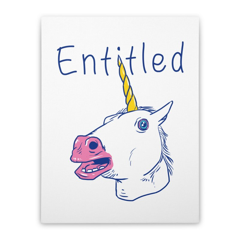Entitled Unicorn Home Stretched Canvas by vincenttrinidad's Artist Shop