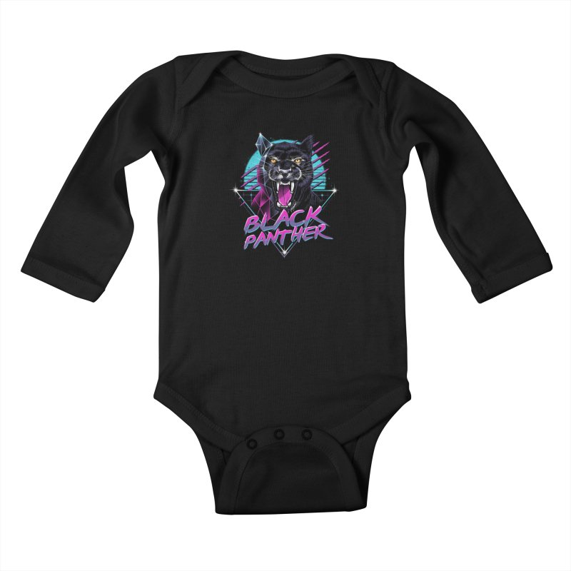 Rad Panther Kids Baby Longsleeve Bodysuit by vincenttrinidad's Artist Shop