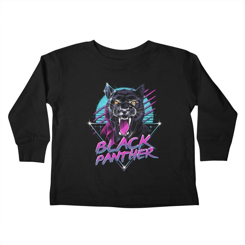 Rad Panther Kids Toddler Longsleeve T-Shirt by vincenttrinidad's Artist Shop