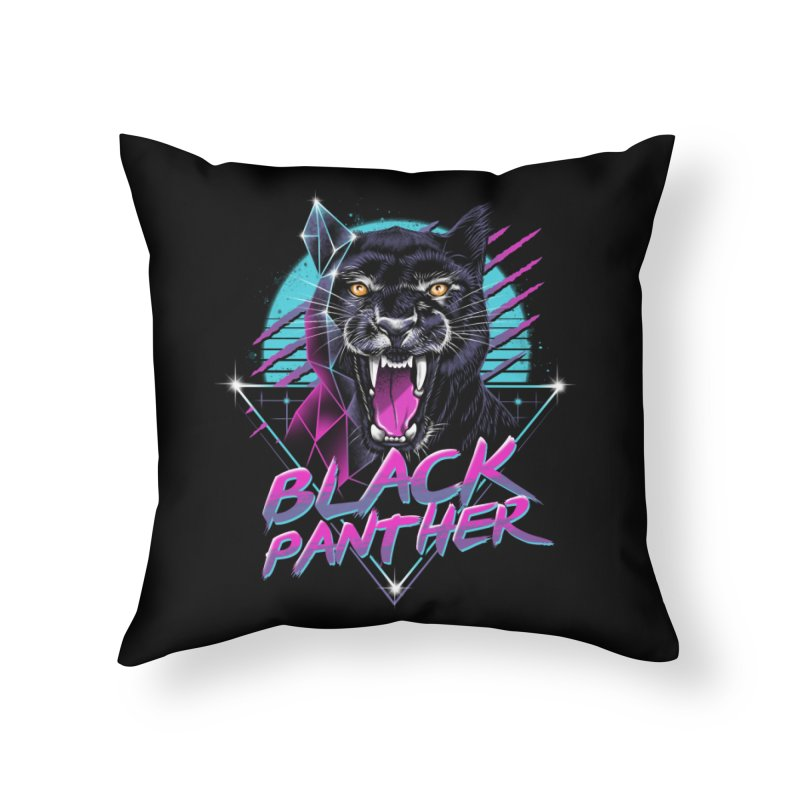 Rad Panther Home Throw Pillow by vincenttrinidad's Artist Shop