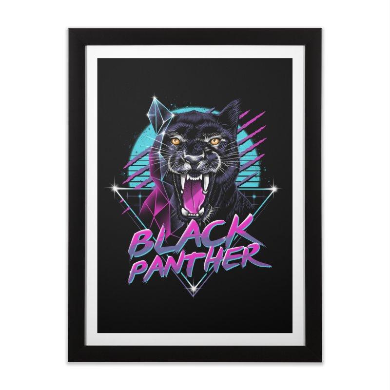 Rad Panther Home Framed Fine Art Print by vincenttrinidad's Artist Shop