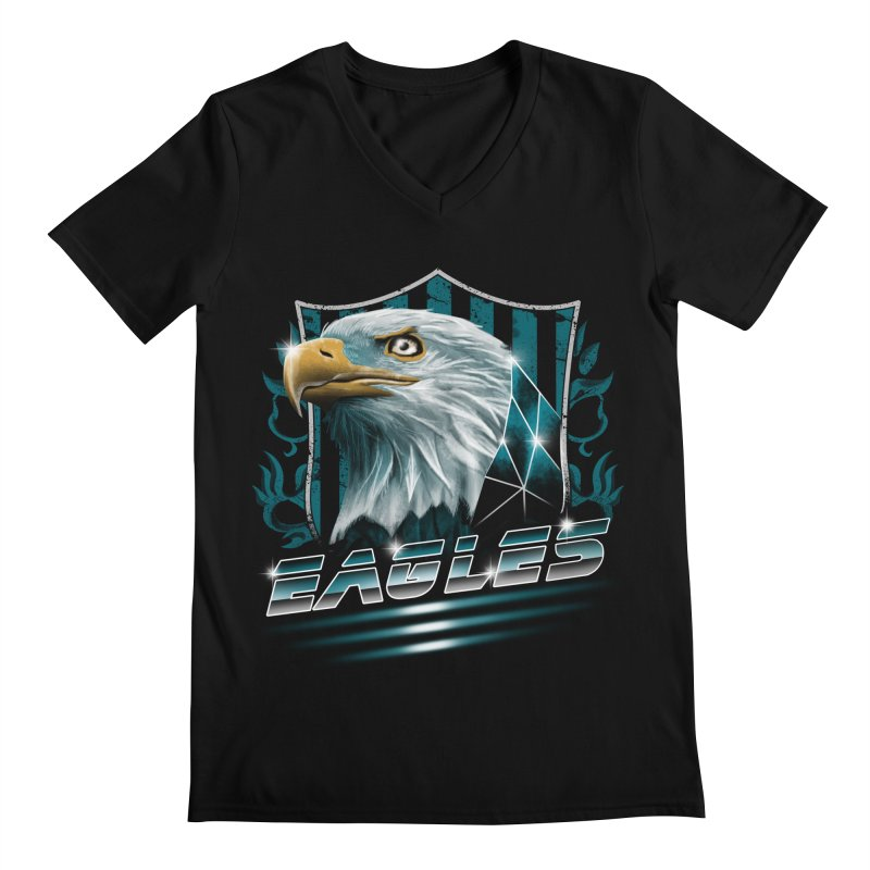 Fly Eagles Fly Men's V-Neck by vincenttrinidad's Artist Shop