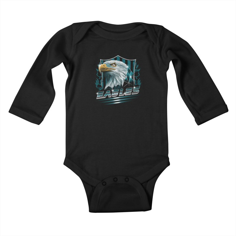 Fly Eagles Fly Kids Baby Longsleeve Bodysuit by vincenttrinidad's Artist Shop