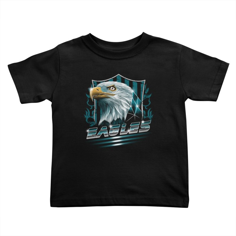 Fly Eagles Fly Kids Toddler T-Shirt by vincenttrinidad's Artist Shop