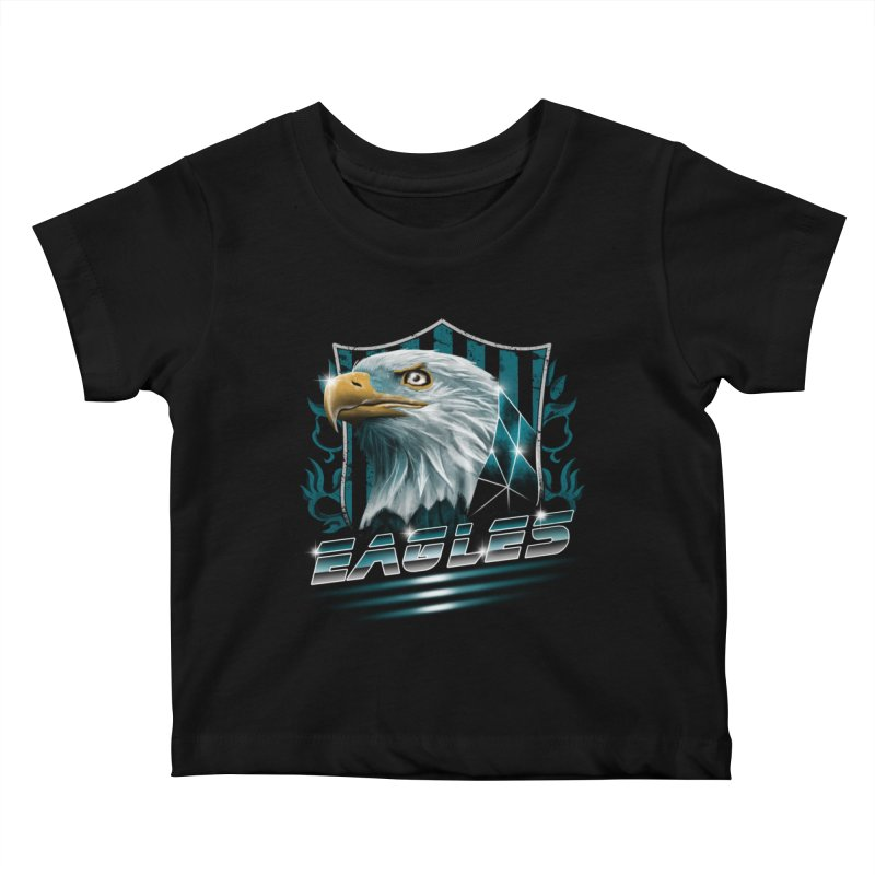 Fly Eagles Fly Kids Baby T-Shirt by vincenttrinidad's Artist Shop