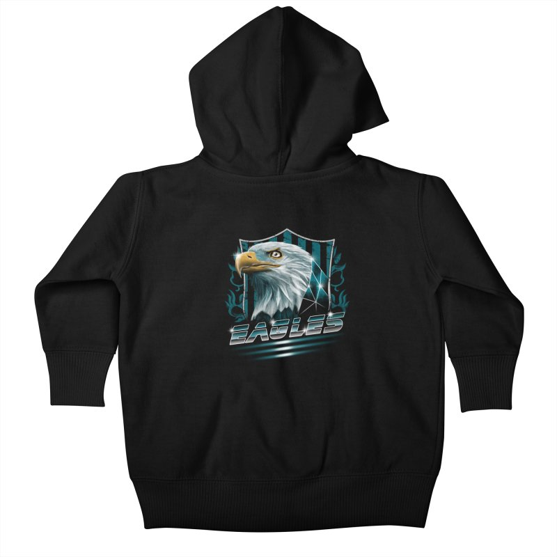 Fly Eagles Fly Kids Baby Zip-Up Hoody by vincenttrinidad's Artist Shop