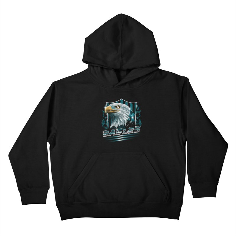 Fly Eagles Fly Kids Pullover Hoody by vincenttrinidad's Artist Shop