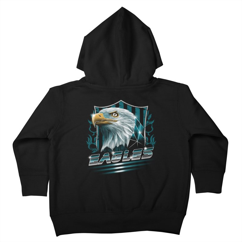 Fly Eagles Fly Kids Toddler Zip-Up Hoody by vincenttrinidad's Artist Shop