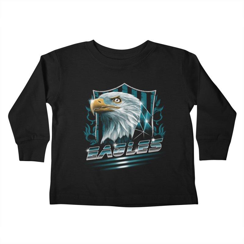 Fly Eagles Fly Kids Toddler Longsleeve T-Shirt by vincenttrinidad's Artist Shop