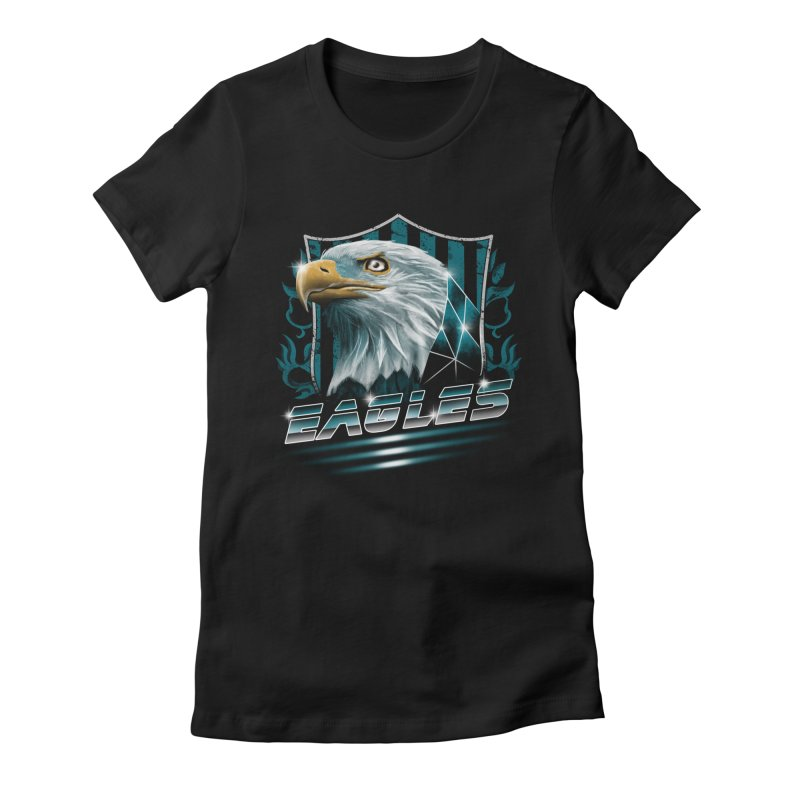 Fly Eagles Fly Women's Fitted T-Shirt by vincenttrinidad's Artist Shop
