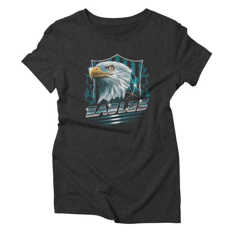Fly Eagles Fly Women's Triblend T-Shirt by vincenttrinidad's Artist Shop
