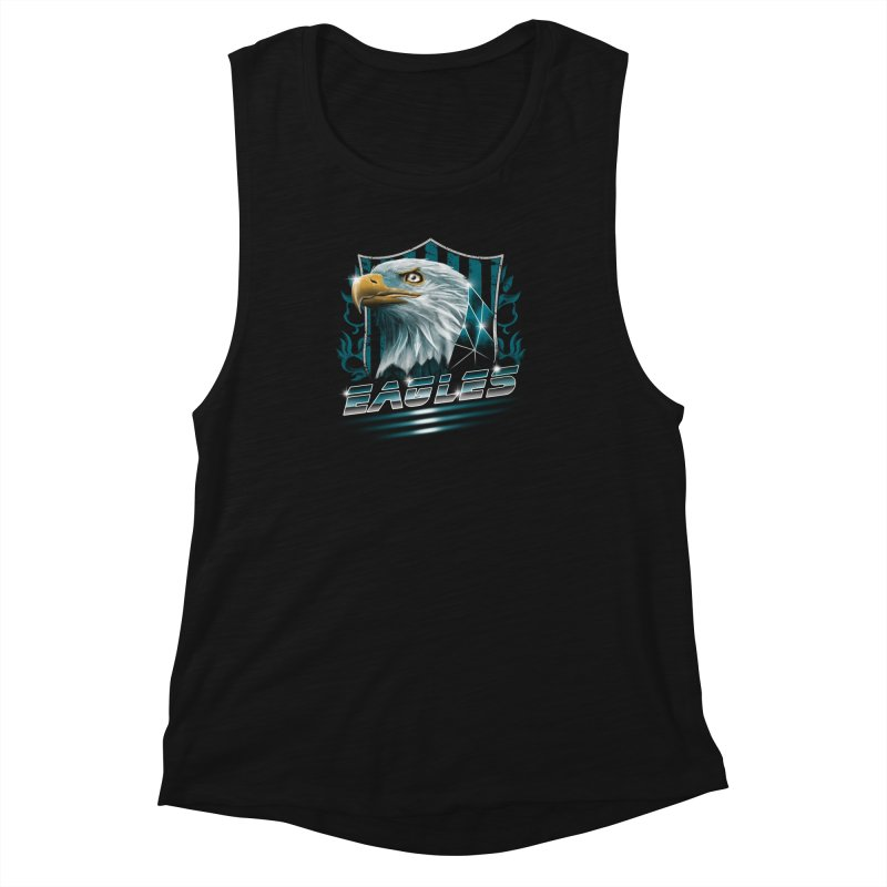 Fly Eagles Fly Women's Muscle Tank by vincenttrinidad's Artist Shop