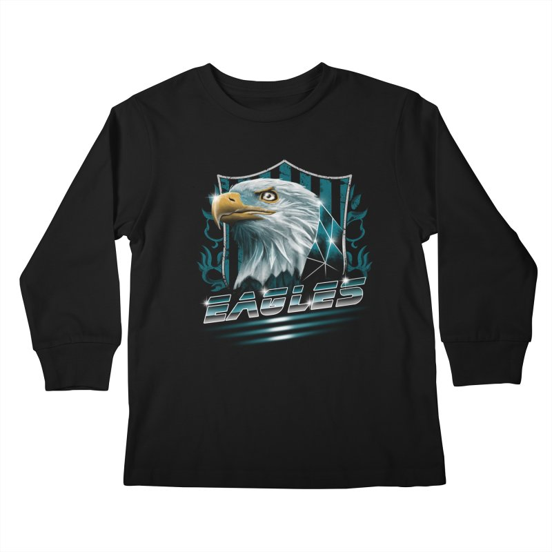 Fly Eagles Fly Kids Longsleeve T-Shirt by vincenttrinidad's Artist Shop