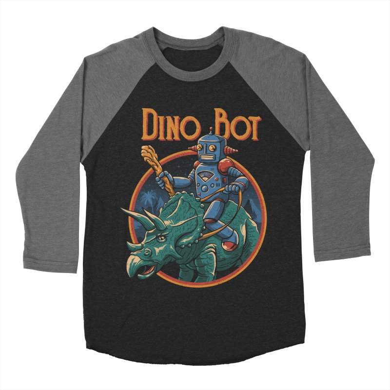 Dino Bot 2 Men's Baseball Triblend T-Shirt by vincenttrinidad's Artist Shop