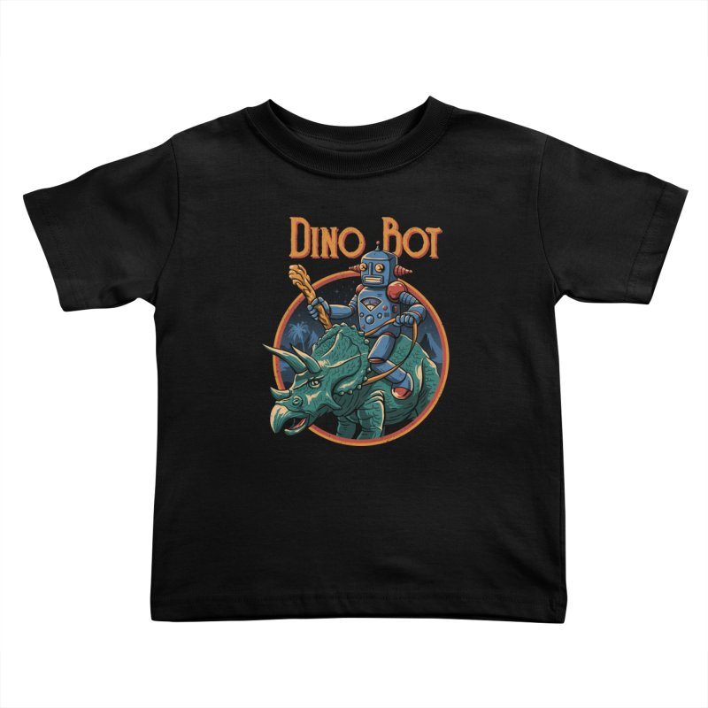 Dino Bot 2 Kids Toddler T-Shirt by vincenttrinidad's Artist Shop