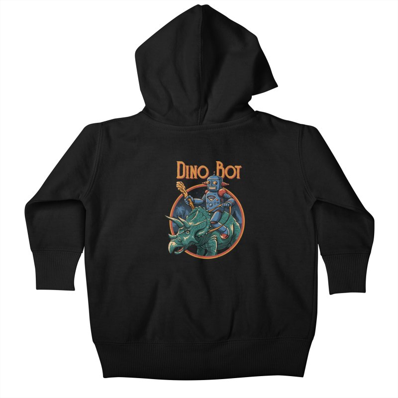 Dino Bot 2 Kids Baby Zip-Up Hoody by vincenttrinidad's Artist Shop