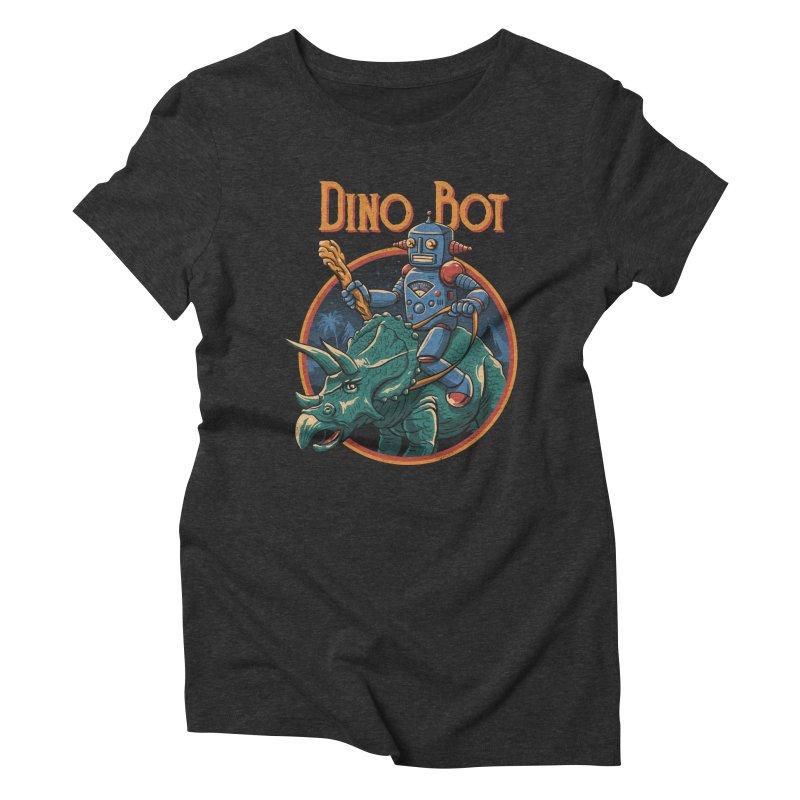 Dino Bot 2 Women's Triblend T-Shirt by vincenttrinidad's Artist Shop