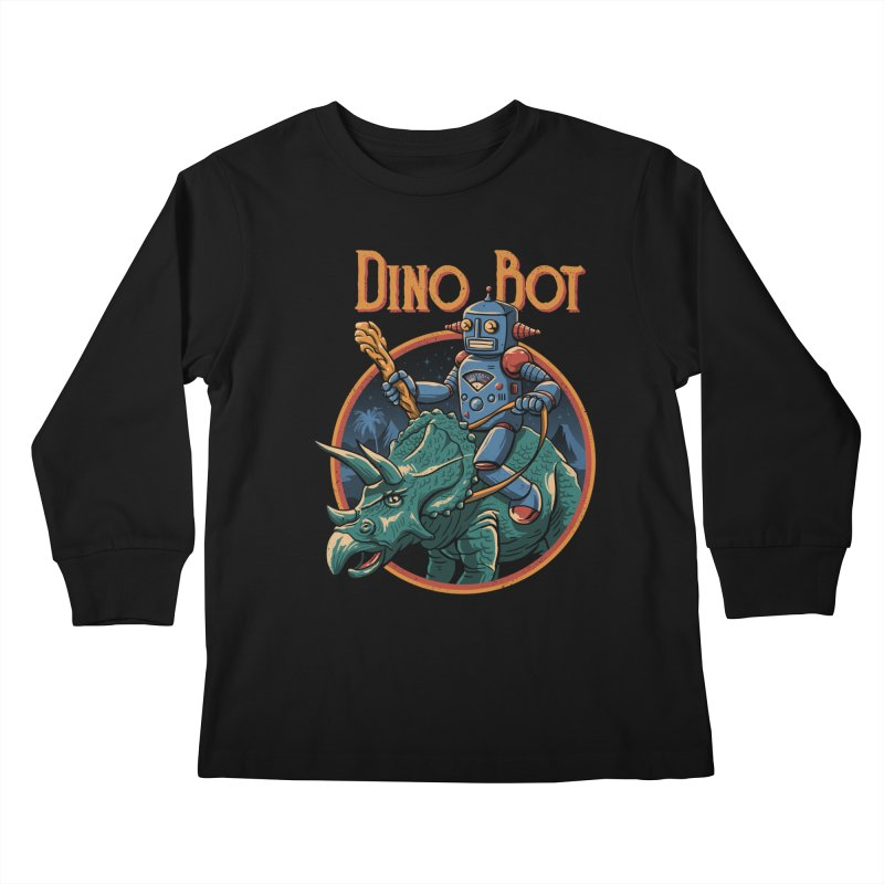Dino Bot 2 Kids Longsleeve T-Shirt by vincenttrinidad's Artist Shop