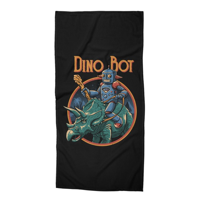 Dino Bot 2 Accessories Beach Towel by vincenttrinidad's Artist Shop
