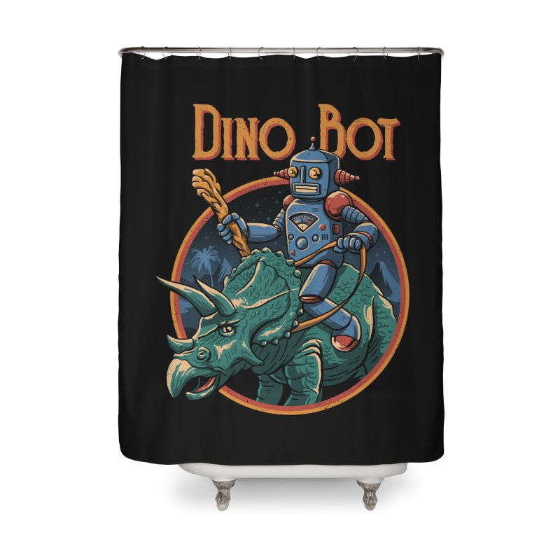 Dino Bot 2 Home Shower Curtain by vincenttrinidad's Artist Shop