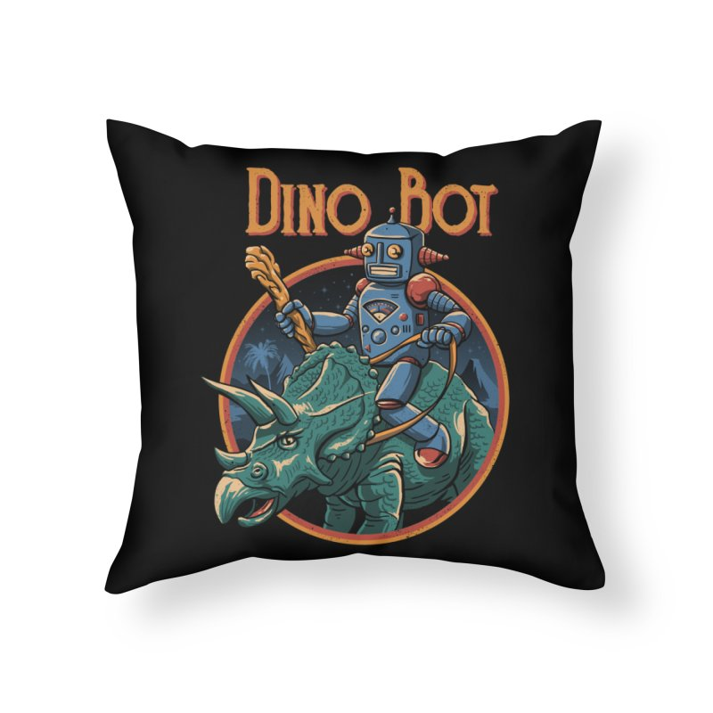 Dino Bot 2 Home Throw Pillow by vincenttrinidad's Artist Shop