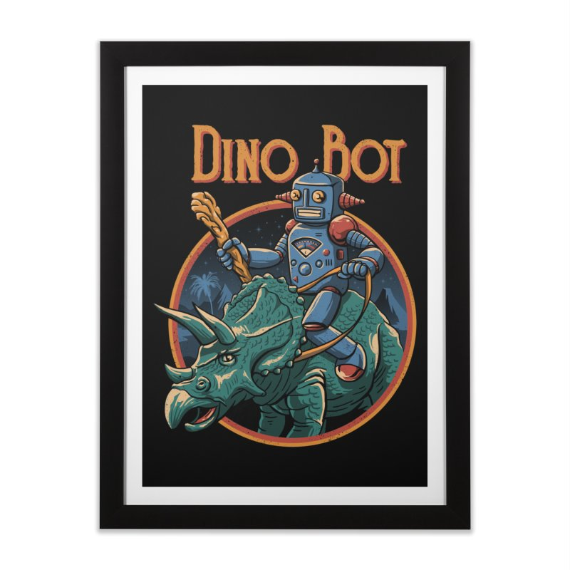 Dino Bot 2 Home Framed Fine Art Print by vincenttrinidad's Artist Shop